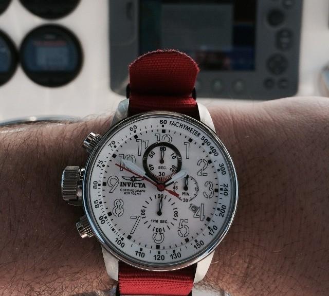 Invicta Chronograph on a NATO strap from #cheapestnatostraps.com #invicta #chronograph #natostrap #natoband