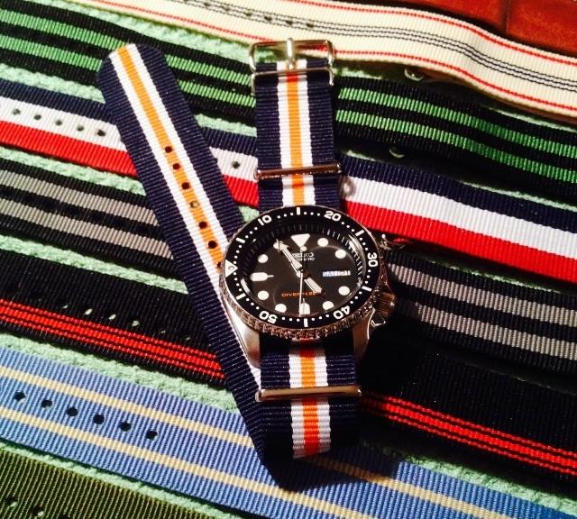 Seiko diver with NATO straps from #cheapestnatostraps.com #seiko #diverswatch #natostrap #natoband
