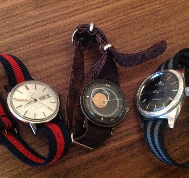 Collection of watches with NATO straps from #cheapestnatostraps #leathernatostrap #natostrap #natoband