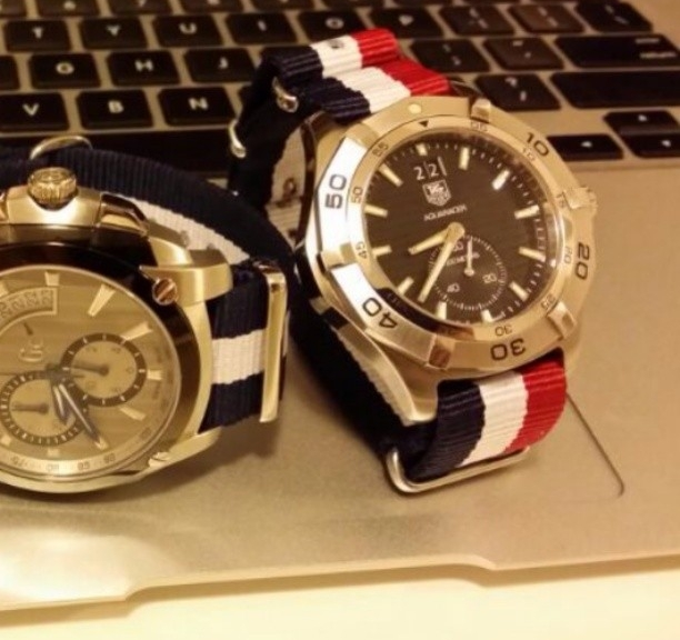 Guess and Tagheuer on NATO straps from #cheapestnatostraps