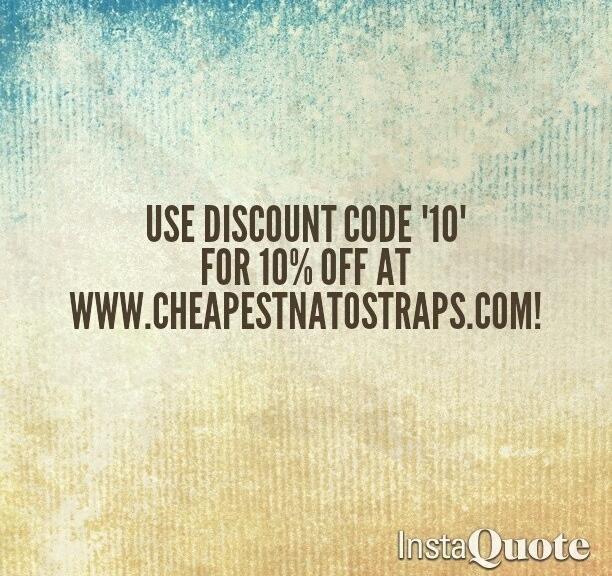 "Use discount code ""10"" for 10% discount on your straps from www.cheapestnatostraps.com #natoband #natostrap #leathernatostrap #zulustrap #klocksnack #watchuseek"
