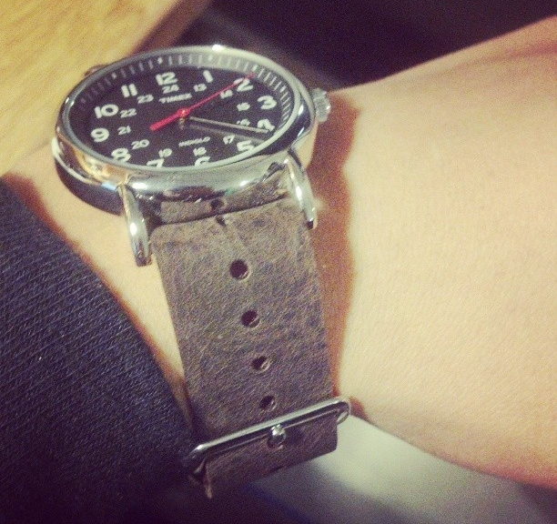 Timex Weekender on a $15 leather NATO strap from #cheapestnatostraps.com #timexweekender #timex #weekender #leathernatostrap #natostrap #natoband