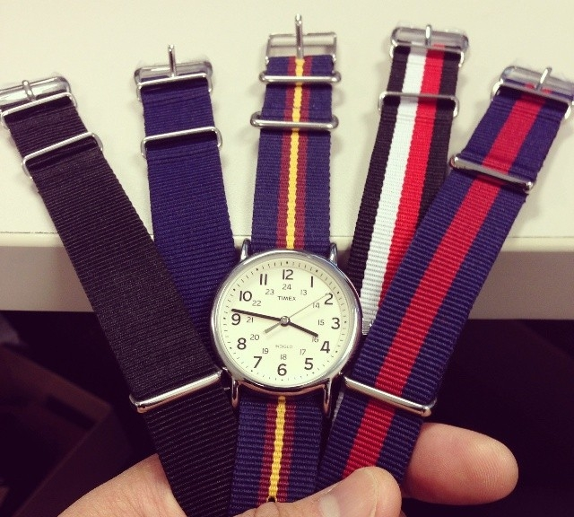 Timex Weekender with NATO straps from #cheapestnatostraps.com #timex #weekender #natostrap #natoband #watchband #watchstrap