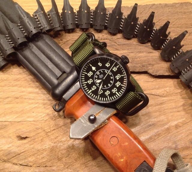 Laco flieger on a Zulu strap from #cheapestnatostraps.com #laco #flieger #pilotwatch #zulustrap #natostrap #natoband #klocksnack #watchuseek #uhrforum
