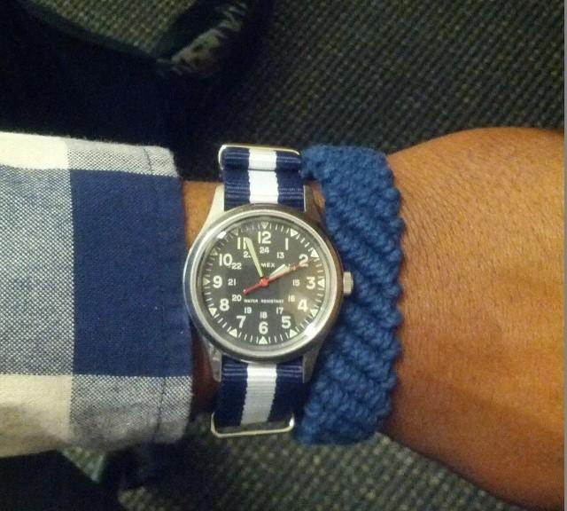 Timex Weekender on a NATO strap from #cheapestnatostraps.com #timex #timexweekender #weekender #natostrap #natoband #klocksnack #watchuseek