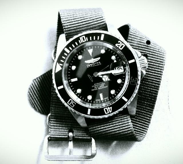 Invicta on a NATO strap from #cheapestnatostraps.com #invicta #natostrap #natoband #diverswatch #klocksnack #watchuseek