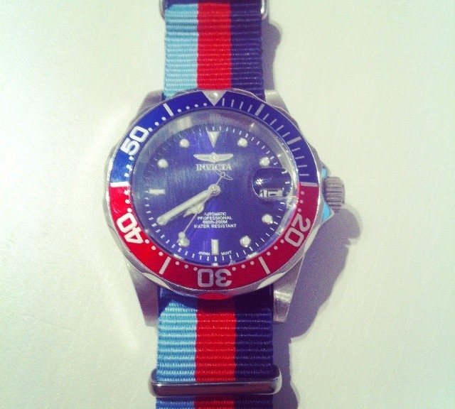 Invicta 5053 on a NATO strap from #cheapestnatostraps.com #invicta #diverswatch #natostrap #natoband #instawatch #watchesofinstagram