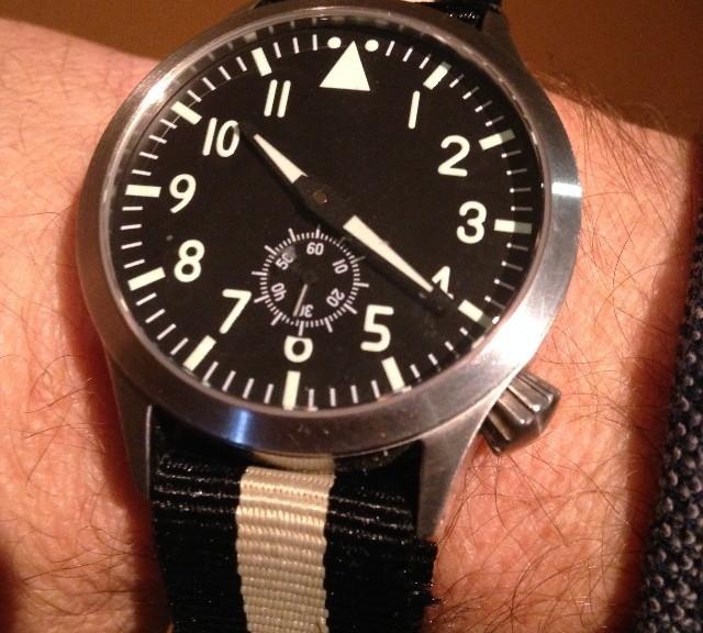 Pilot watch on a NATO strap from #cheapestnatostraps.com #pilotwatch #natostrap #natoband #instawatch #watchesofinstagram