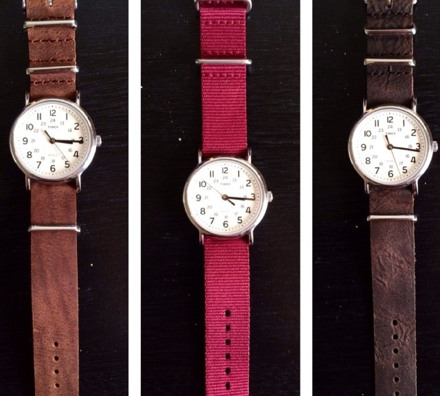 Timex Weekender on leather NATO straps from #cheapestnatostraps.com #timexweekender #weekender #timex #leathernatostrap #natostrap #natoband