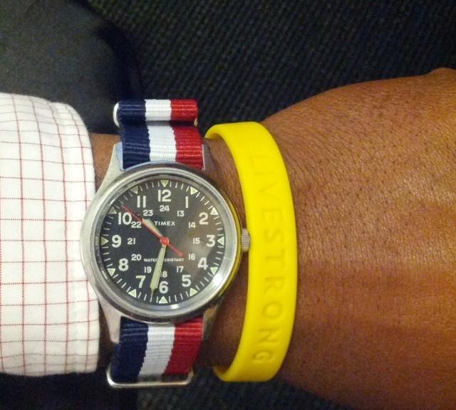 Timex Weekender on a NATO strap from #cheapestnatostraps.com #timex #timexweekender #natostrap #natoband #klocksnack #watchuseek