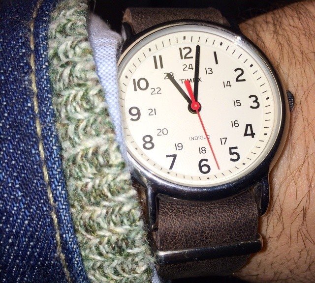 Timex Weekender on a leather NATO strap from #cheapestnatostraps.com #leathernatostrap #natostrap #natoband #timex #weekender #timexweekender