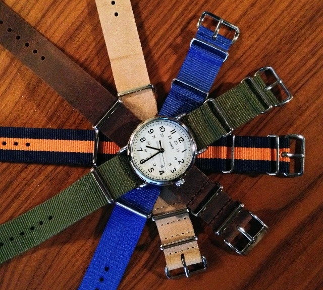 Timex Weekender with NATO straps from #cheapestnatostraps.com #timexweekender #timex #weekender #leathernatostrap #natostrap #natoband #instawatch #watchesofinstagram