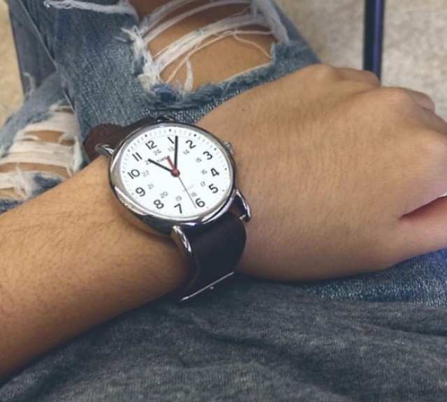 Timex Weekender on a leather NATO strap from #cheapestnatostraps.com #timexweekender #timex #weekender #leathernatostrap #natostrap #natoband