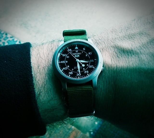 @ctuccio's Seiko 5 on a NATO strap from #cheapestnatostraps.com #seiko5 #seiko #natostrap #natoband #instawatch #watchesofinstagram