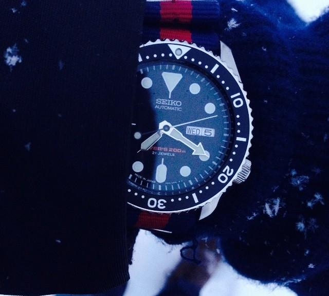 Seiko Diver on a NATO strap from #cheapestnatostraps.com #seikodiver #seiko #diverswatch #natostrap #natoband