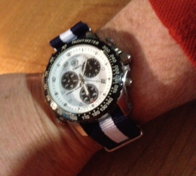 Timex Chronograph on a NATO strap from #cheapestnatostraps.com #timex #chronograph #natostrap #natoband