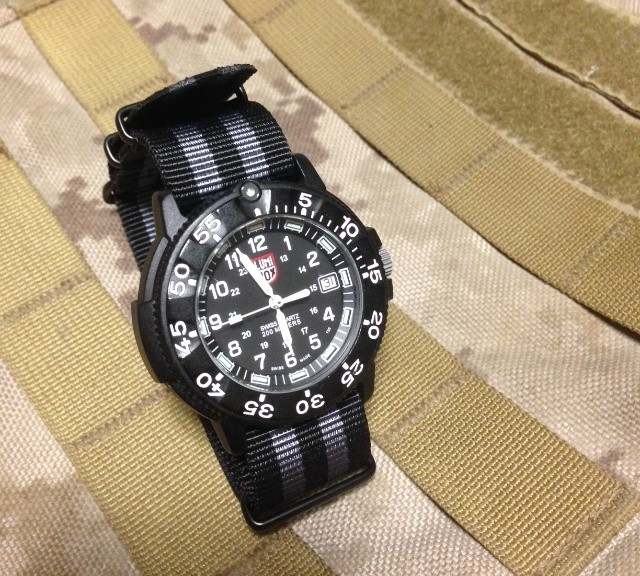 Luminox on a PVD coated NATO strap from #cheapestnatostraps.com #luminox #natostrap #natoband #klocksnack #watchuseek #timetotalk