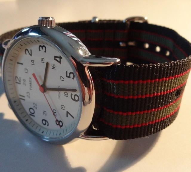 Timex Weekender on a James Bond striped NATO strap from #cheapestnatostraps.com #timexweekender #timex #weekender #jamesbond #natostrap #natoband #klocksnack #watchuseek #watchband #watchstrap