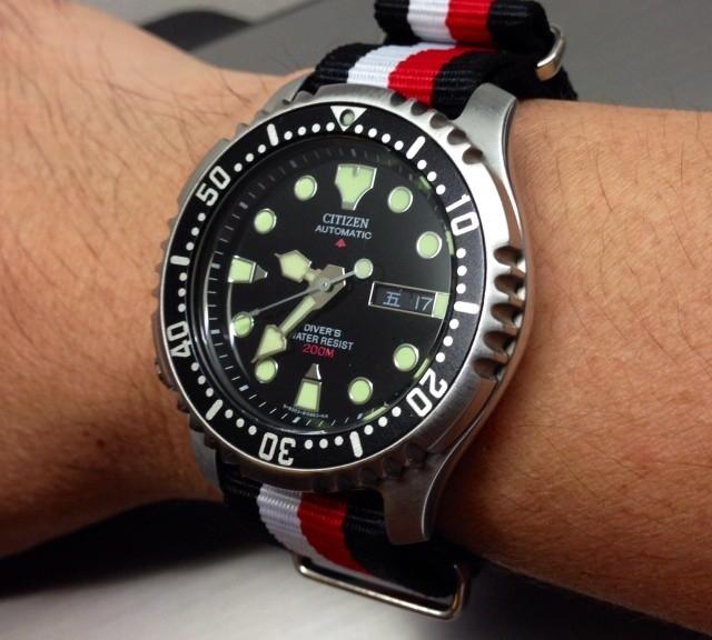 Citizen on a NATO strap from #cheapestnatostraps.com #citizen #natostrap #natoband #klocksnack #watchuseek #diverswatch