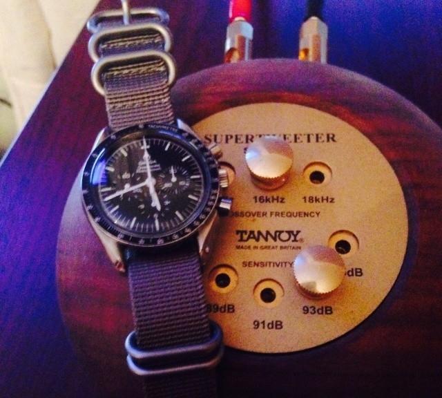 Omega Speedmaster on a khaki Zulu strap from #cheapestnatostraps.com #omegaspeedmaster #omega #speedmaster #zulustrap #natostrap #natoband #klocksnack #watchuseek