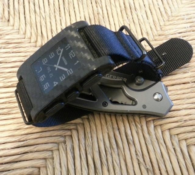 Pebble Smartwatch on a NATO strap from #cheapestnatostraps.com #pebblesmartwatch #pebble #natostrap #natoband #smartwatch #klocksnack #watchuseek #watchband #watchstrap