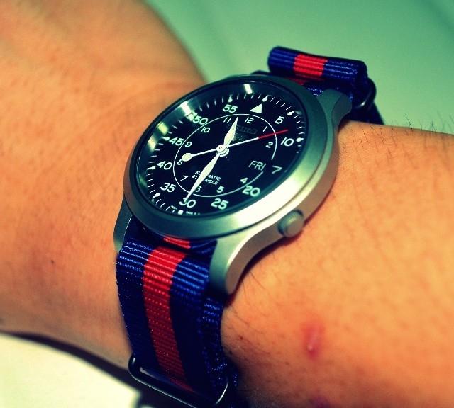 Seiko 5 on a NATO strap from #cheapestnatostraps.com #seiko #seiko5 #natostrap #natoband #klocksnack #watchuseek