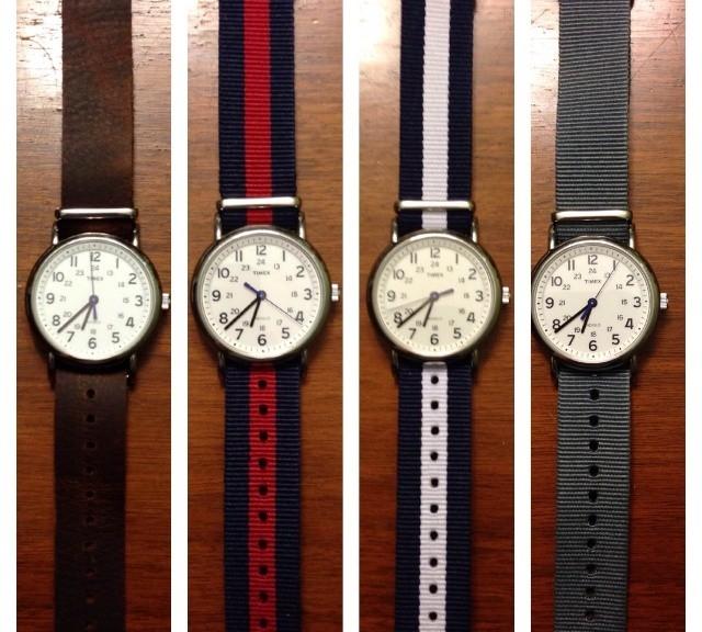 Timex Weekender on NATO straps from #cheapestnatostraps.com #timexweekender #timex #weekender #leathernatostrap #natostrap #natoband #klocksnack #watchuseek