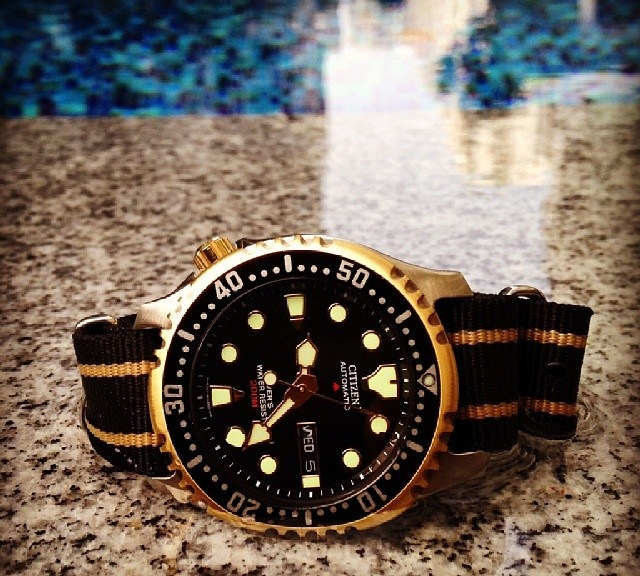 Citizen on a nato from #cheapestnatostraps #watchoftheday #watchband #klocksnack #natostrap #instawatch #summerwatch