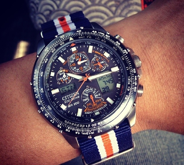 Citizen on a nato strap from #cheapestnatostraps .com This nato is only usd 7.95 ! World Wide shipping for only  3.99 :) This combination is amazing! #citizen #natostrap #watchband #summerwatch #tudor #klocksnack #watchoftheday #instawatch