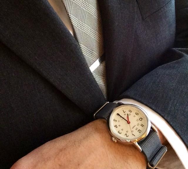 Gray NATO strap on a classic Timex Weekender #cheapestnatostraps #natostrap #natoband #klocksnack #watchuseek #timexweekender #timex #weekender