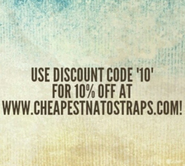 Get 10% discount off your new NATO straps from #cheapestnatostraps.com #natostrap #natoband #klocksnack #watchuseek #watchband #watchstrap