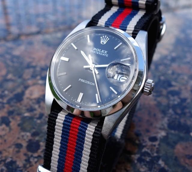 Vintage Rolex Datejust on a NATO strap from #cheapestnatostraps.com #rolexdatejust #rolex #datejust #vintagewatch #natostrap #natoband #watchband #watchstrap #klocksnack #watchuseek