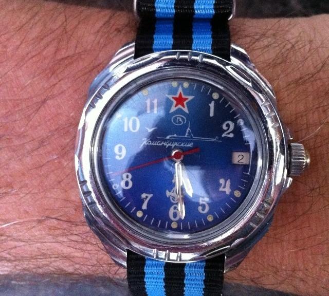 Vostok Komandirskie on a NATO strap from #cheapestnatostraps.com #vostok #vostokkomandirskie #russianwatch #natostrap #natoband #klocksnack #watchuseek #watchband #watchstrap