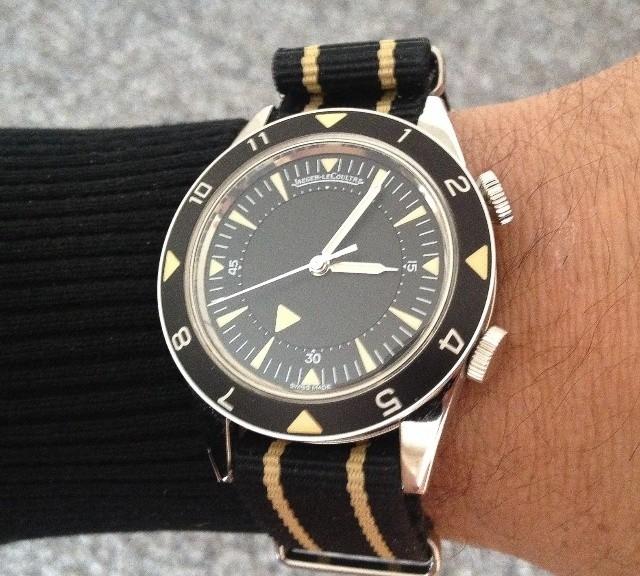 Jaeger Lecoultre on a NATO strap from #cheapestnatostraps.com #jaegerlecoultre #jlc #natostrap #natoband #diverswatch #klocksnack #watchuseek #instawatch #watchesofinstagram #watchaddict #wristporn