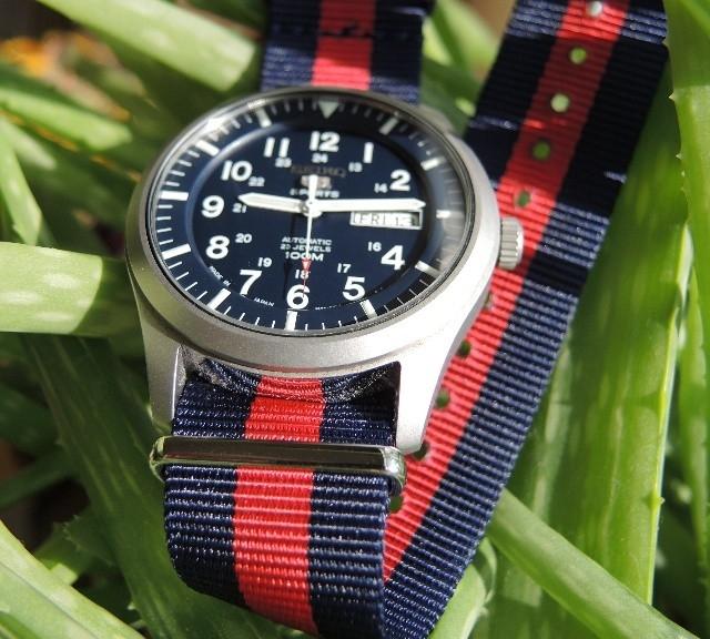 Seiko 5 on a premium NATO strap from #cheapestnatostraps.com #seiko5 #seiko #natostrap #natoband #klocksnack #watchuseek #instawatch #watchesofinstagram #watchaddict #wristporn