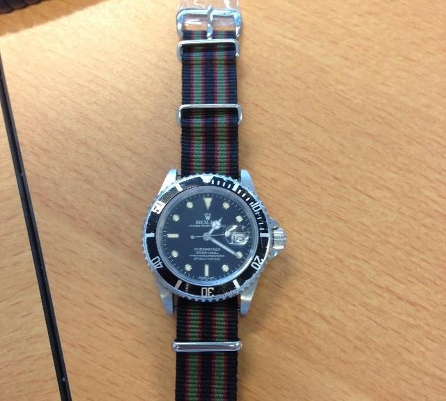 Rolex Submariner on a NATO strap from #cheapestnatostraps.com #rolexsubmariner #rolex #submariner #jamesbond #natostrap #natoband #klocksnack #watchuseek #watchesofinstagram #instawatch #watchaddict #wristporn