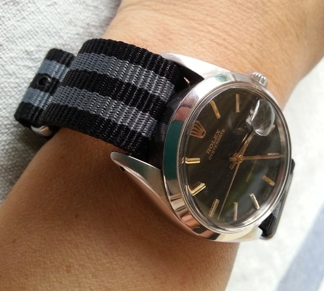 Rolex on a NATO strap from #cheapestnatostraps.com #rolex #natostrap #natoband #klocksnack #watchuseek #instawatch #watchesofinstagram #watchaddict #wristporn #watchband #watchstrap