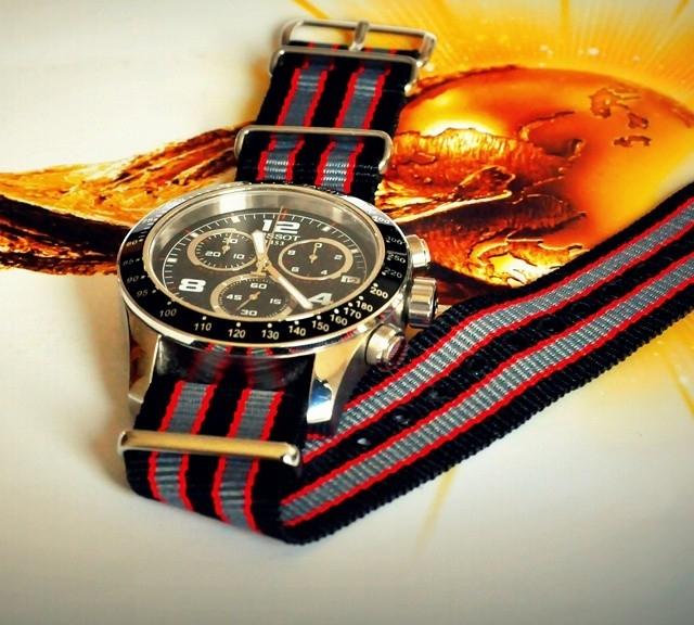 Tissot V8 on a NATO strap from #cheapestnatostraps.com #tissot #Chronograph #natostrap #natoband #klocksnack #watchuseek #instawatch #watchesofinstagram #watchaddict #wristporn