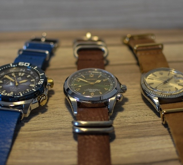 Seiko and Rolex Datejust on leather NATO straps from #cheapestnatostraps.com #seiko #rolexdatejust #rolex #datejust #leatherzulustrap #leathernatostrap #natostrap #natoband #klocksnack #watchuseek #instawatch #watchesofinstagram #watchaddict #wristporn