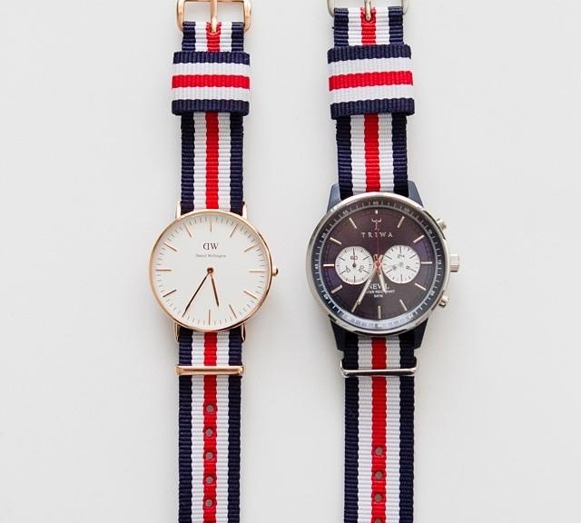 Daniel Wellington and Triwa on NATO straps from #cheapestnatostraps.com #natostrap #natoband #klocksnack #watchuseek #instawatch #watchesofinstagram #watchaddict #wristporn #watchband #watchstrap