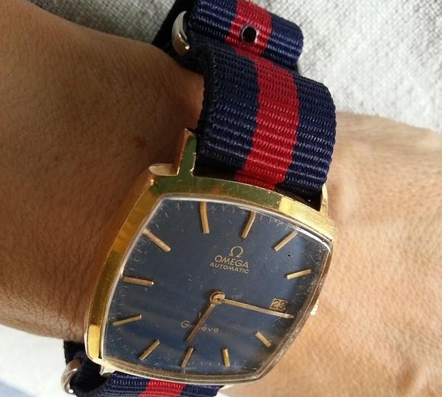 Omega Genève on a NATO strap from #cheapestnatostraps.com #omega #natostrap #natoband #klocksnack #watchuseek #instawatch #watchesofinstagram #watchaddict #wristporn #watchband #watchstrap