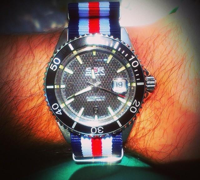 Watch with NATO strap from #cheapestnatostraps.com #natostrap #natoband #klocksnack #watchuseek #instawatch #watchesofinstagram #watchaddict #wristporn #watchband #watchstrap